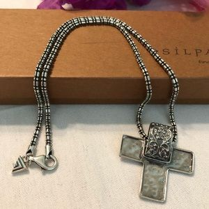 Silpada N2078 Necklace With Sterling Silver Cross
